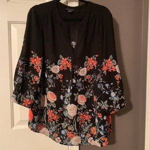Willi Smith flowy floral top